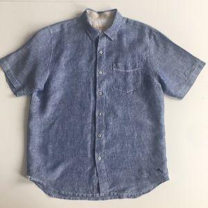 Tommy Bahama Short Sleeve Linen Button Down Shirt